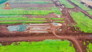 Dự án đang dần hoàn thiện công trình tuyến ống cấp nước TTTM Lộc Ninh 2