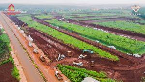 Dự án đang dần hoàn thiện công trình tuyến ống cấp nước TTTM Lộc Ninh 3
