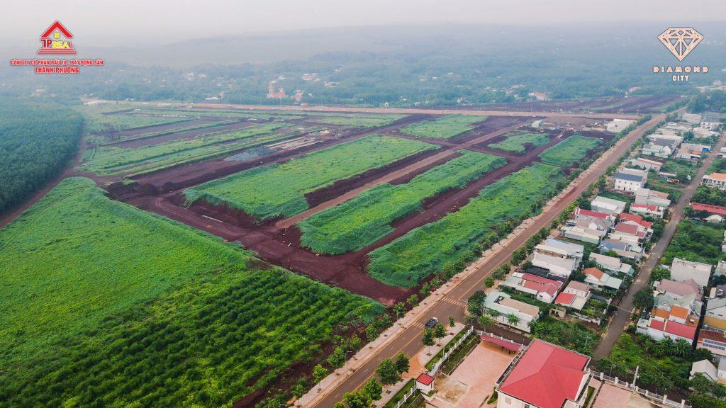 Toàn cảnh tiến độ dự án Diamond City Lộc Ninh ngày 01/10/2021