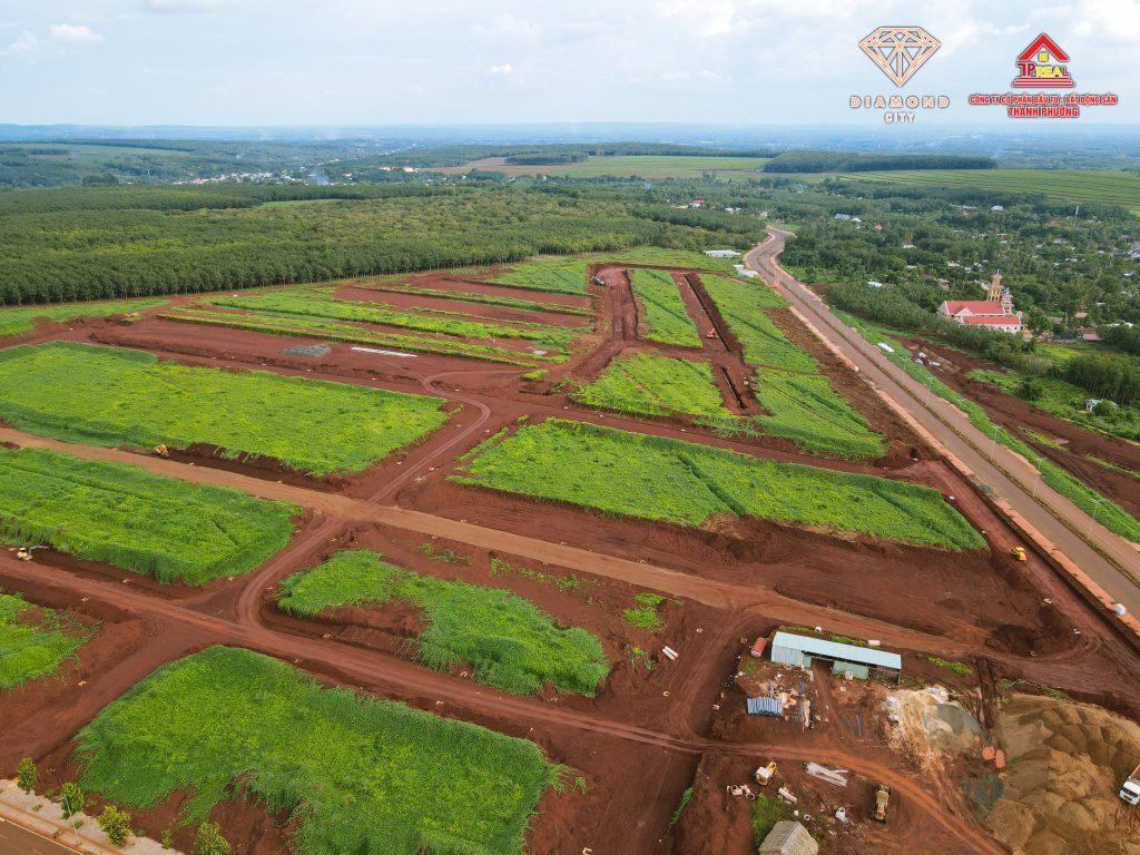Tiến độ dự án Diamond City Lộc Ninh ngày 14/09/2021